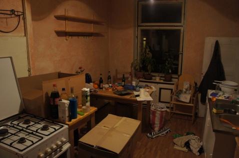 Küche florastrasse, der Abend davor