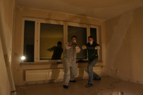 Marcel und Nico vor der Arbeit, energetisch und noch fit