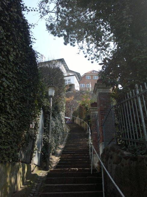 Bröersweg Blankenese Hamburg Treppen
